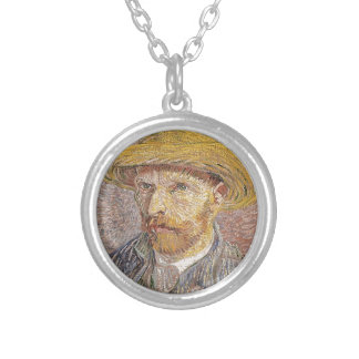 Van Gogh self portrait Silver Plated Necklace