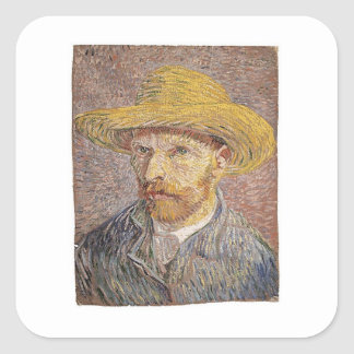 Van Gogh self portrait Square Sticker