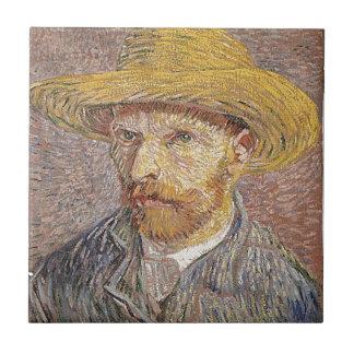 Van Gogh self portrait Tile