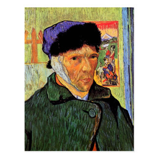Van Gogh Self-Portrait With Bandaged Ear Postcard