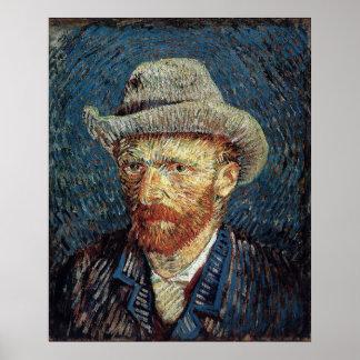 Van Gogh Self-Portrait with Grey Felt Hat Poster