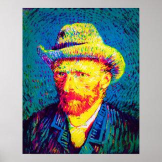 Van Gogh - Self Portrait With Grey Felt Hat Print
