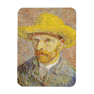 Van Gogh Self Portrait with Straw Hat Magnet