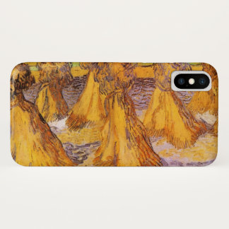Van Gogh Sheaves of Wheat, Vintage Fine Art iPhone X Case