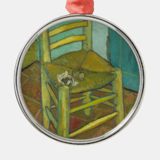 Van Gogh Silver-Colored Round Ornament