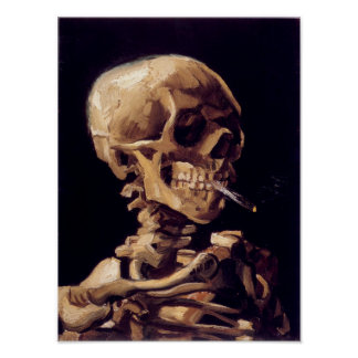 Van Gogh Skeleton Painting Poster