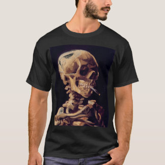 van gogh - skull with a burning cigarette T-Shirt
