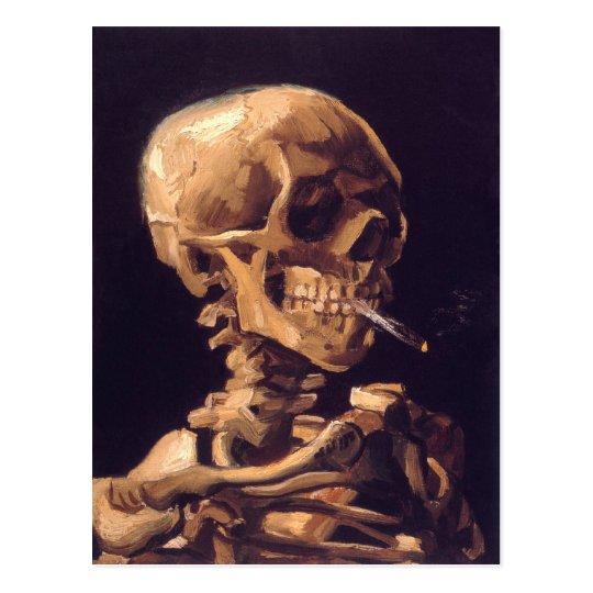 Van Gogh: Skull with Burning Cigaret Postcard