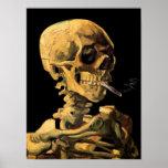 Van Gogh Skull With Burning Cigarette