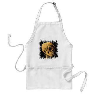 Van Gogh - Skull With Burning Cigarette Adult Apron