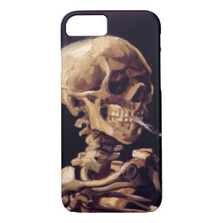 Van Gogh Skull with Burning Cigarette iPhone 8/7 Case