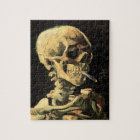 Van Gogh Skull with Burning Cigarette Puzzle