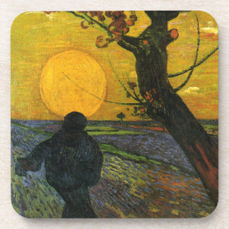 Van Gogh Sower With Setting Sun Coasters