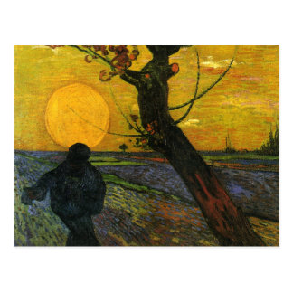 Van Gogh Sower With Setting Sun Postcard