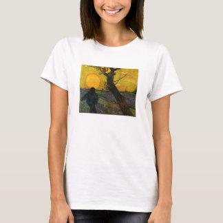 Van Gogh Sower With Setting Sun T-shirt
