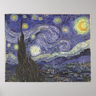 van Gogh - Starry Night (1889) Poster
