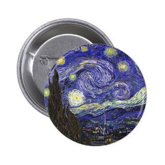 Van Gogh Starry Night 2 Inch Round Button