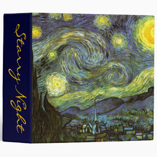 Van Gogh: Starry Night 3 Ring Binders