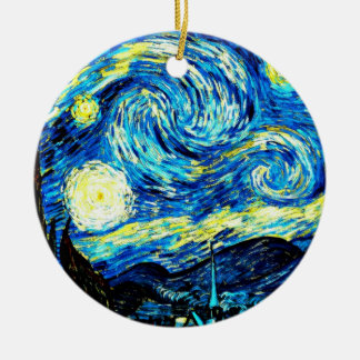 Van Gogh: Starry Night Ceramic Ornament