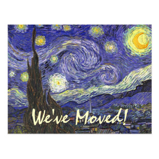 Van Gogh Starry Night, Change of Address Postcard