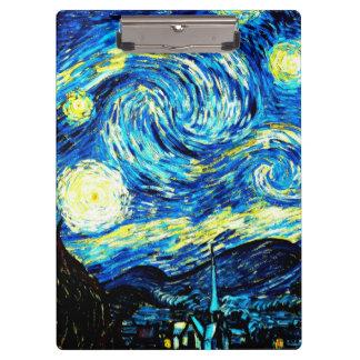 Van Gogh - Starry Night Clipboards