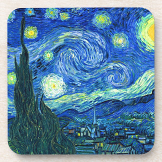 van gogh starry night drink coaster