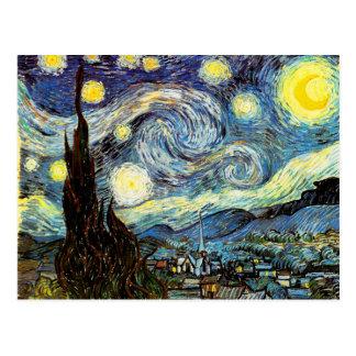 Van Gogh Starry Night (F612) Vintage Fine Art Postcard