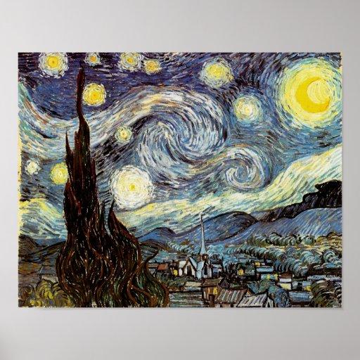 Van Gogh Starry Night Fine Art Posters