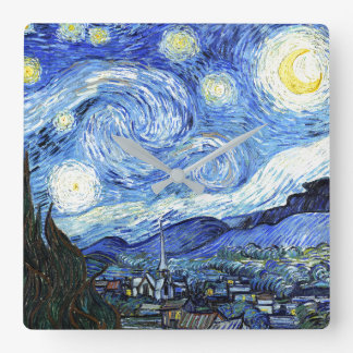 Van Gogh Starry Night Impressionism Art Wall Clock