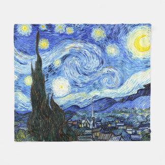 Van Gogh Starry Night Impressionism Fleece Blanket