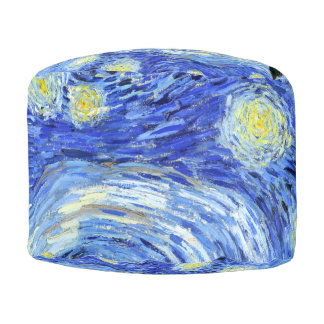 Van Gogh Starry Night Impressionism Pouf Pillow