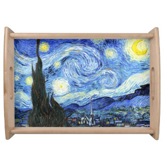 Van Gogh Starry Night Impressionism Serving Tray