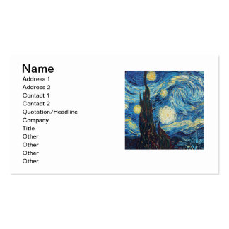 Van Gogh Starry Night Impressionist Painting Pack Of Standard Business Cards