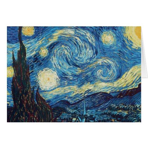Van Gogh Starry Night Impressionist Painting Greeting Card