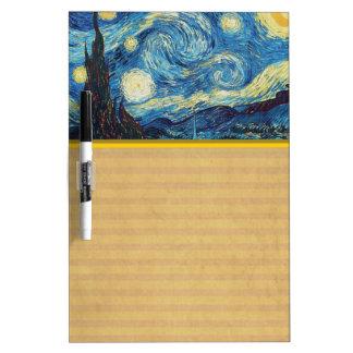 Van Gogh Starry Night Impressionist Painting Dry Erase Board