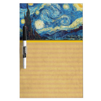 Van Gogh Starry Night Impressionist Painting Dry-Erase Board
