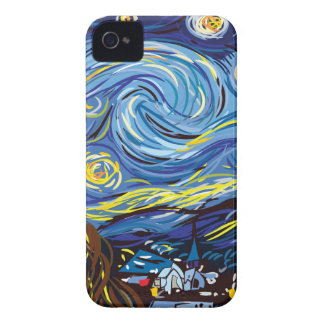 Van Gogh starry night iPhone 4 Cases