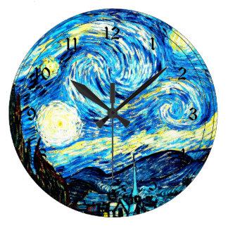 Van Gogh - Starry Night Large Clock