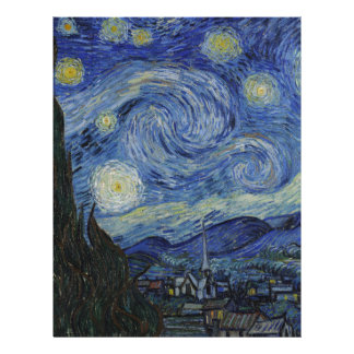 Van Gogh Starry Night,Multi products selected Letterhead Design