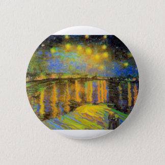 Van Gogh - Starry Night On The Rhone 2 Inch Round Button