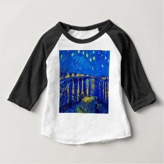 Van Gogh Starry Night Over Rhone Baby T-Shirt
