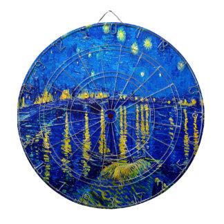 Van Gogh Starry Night Over Rhone Dartboard