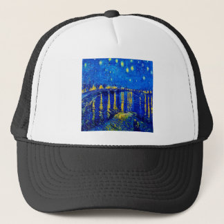 Van Gogh Starry Night Over Rhone Trucker Hat