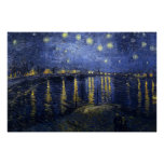van Gogh - Starry Night Over the Rhone (1888) Poster