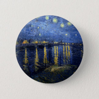 Van Gogh: Starry Night Over the Rhone 2 Inch Round Button