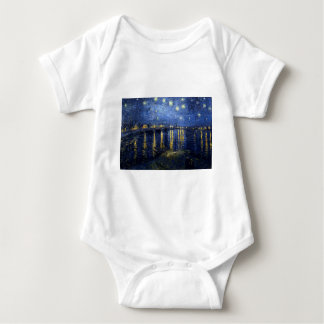 Van Gogh: Starry Night Over the Rhone Baby Bodysuit