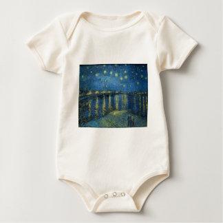 Van Gogh: Starry Night Over the Rhone Baby Bodysuit