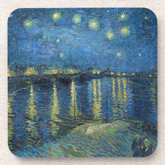 Van Gogh: Starry Night Over the Rhone Beverage Coaster