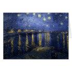 Van Gogh Starry Night Over The Rhone Card