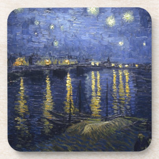 Van Gogh Starry Night Over The Rhone Coaster
